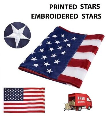 American Flag Heavy Duty Embroidered Stars US 3x5 ft Nylon