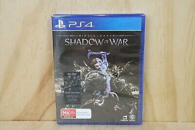 Sony Playstation 4 PS4 Game - Middle Earth Shadow of War - New + Sealed