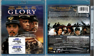 Blu-ray Matthew Broderick GLORY Denzel Washington US Civil War OOP Cdn A/B/C NEW