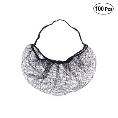 100pcs Disposable Beard Mask Snood Cover Cooking Food Safe Beard Cover Net