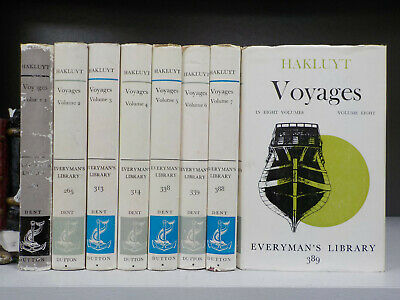 Hakluyt : Voyages (Everyman's Library) 1962 - FULL SET of 8 Volumes (ID:5602)