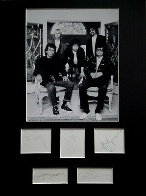 TRAVELING WILBURYS signed autograph DISPLAY George Harrison Bob Dylan Jeff Lynne