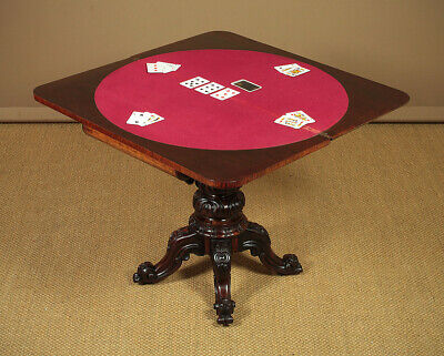 Antique Mid 19th.c. Rosewood Fold Over Games Table c.1850.