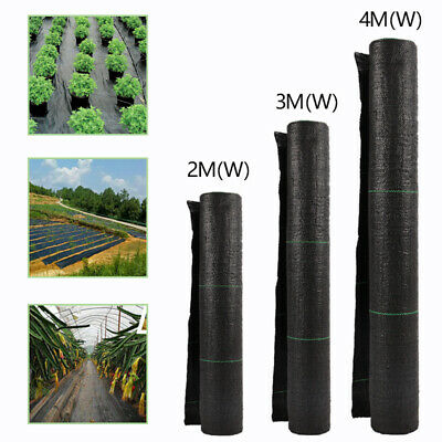 Black Fabric Woven Heavy Duty Weed Control Ground Cover Terrace Cropping Mulch