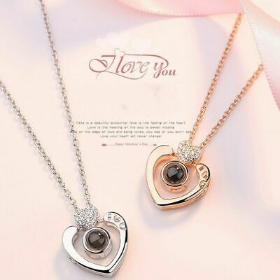Subloom-100 Languages I Love You Pendant Necklace Heart Gift Jewelry Women G9M3