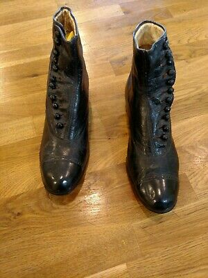 Antique Victorian Dr. Woodburys Boots-Early 1900s Young Mens Boys-Ladies Shoes