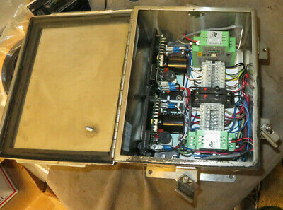 Two DC Motor Drives In A SCE Industrial Panel Enclosure AX025955