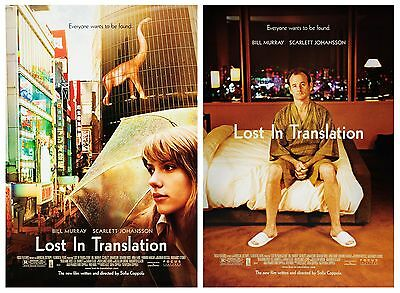 Lost In Translation  (2003) Set Of 2 Original Movie Posters   -  Rolled