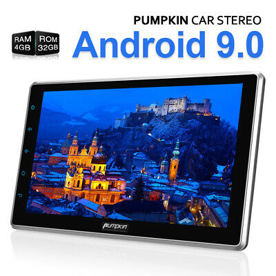 """10.1"""" Android 9.0 Double DIN Car Stereo 4GB+32GB Bluetooth GPS DAB USB OBD2 WiFi"""
