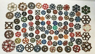 100 Vintage Water Faucet Knob Valves Handle Steampunk Industrial Arts Crafts