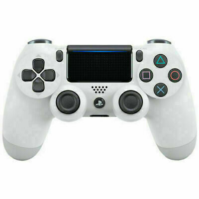 Sony PlayStation 4 Dualshock 4 Wireless Controller White  CUH-ZCT1U  PS4