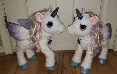 LOT OF 2 FurReal Friends STARLILY My Magical Unicorn Horse Star Lilly Lily