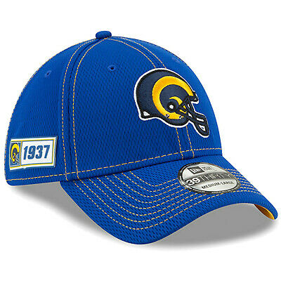 2019 Los Angeles Rams LA New Era 39THIRTY NFL Sideline Road On Field Cap Hat