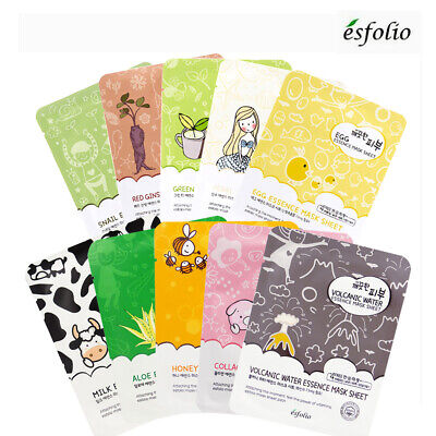 BUY5GET1FREE [ESFOLIO] Vitamin Infused High Concentrated Essence Facial Mask 1pc