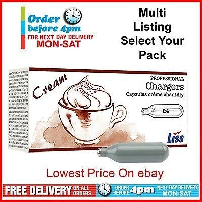 Whipped Cream Chargers Liss Canisters 0.5L Whipper Dispenser Noz Nos N20 Nitrous