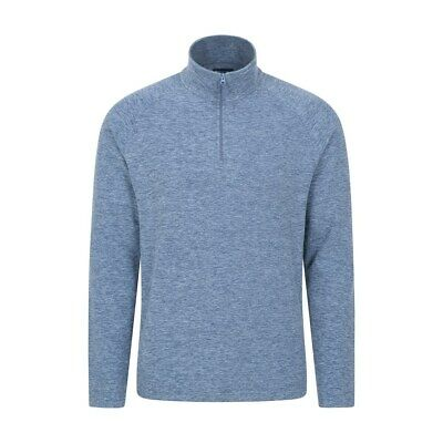 Mountain Warehouse Mens Half Zip with Microfleece and Highly Breathable Fabric