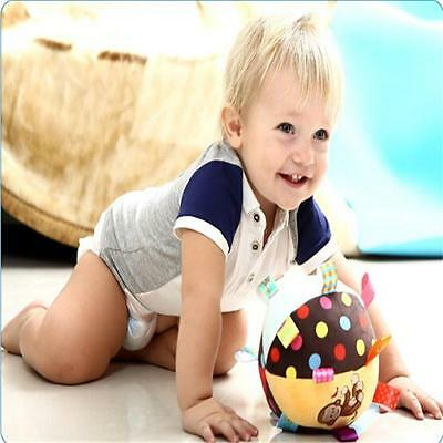 Baby Plush Animal Ball Toys Happy Baby Soft Rattle Bell Hand Grasp Toys MP