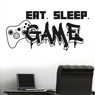 Control Freak Controllers Xbox Playstation Gamer Decal Wall Art Sticker Picture