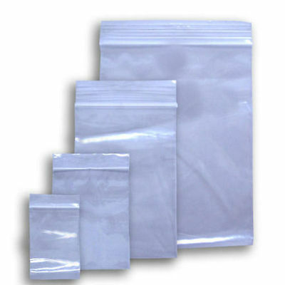 Resealable Poly Ziplock Bags 6Mil Various Sizes & QuantitiesFDA & USDA Approved
