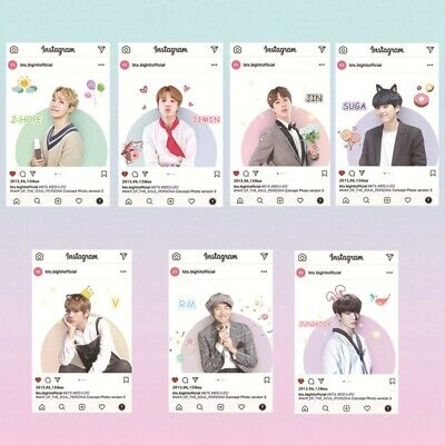 8pcs Kpop BTS PVC Photo Cards JUNGKOOK JIMIN SUGA INS Printed Transparent Cards