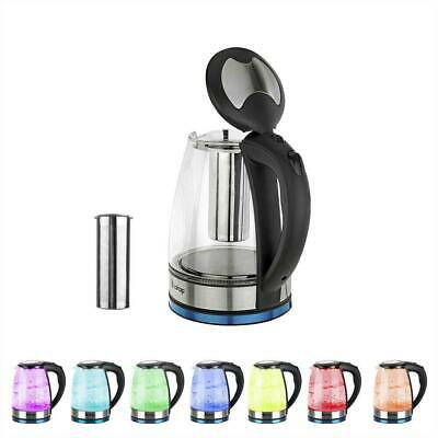 Glass Kettle 360 Cordless 1.8L 7 Colours LED Electric Jug Boiler