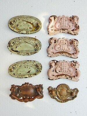 Antique Original Drawer Cabinet Pulls Bulk Job Lot Assorted Mixed Edwardian Set