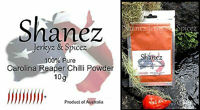 Carolina Reaper Powder 10g and 5x15 Sauces 4 sets  WORLDS HOTTEST SHANEZ Chilli
