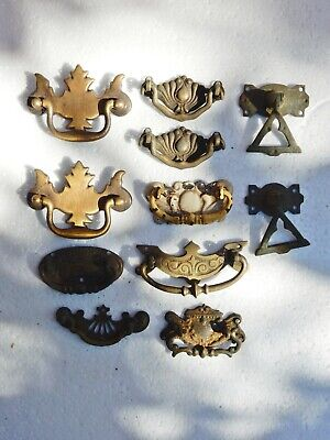 Antique Original Drawer Cabinet Pulls Bulk Job Lot Assorted Mixed Set Small Size