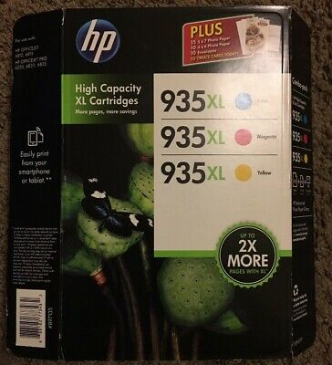 GENUINE HP 935XL Combo Black Tri Color Ink Cartridges - FREE SHIPPING Expired