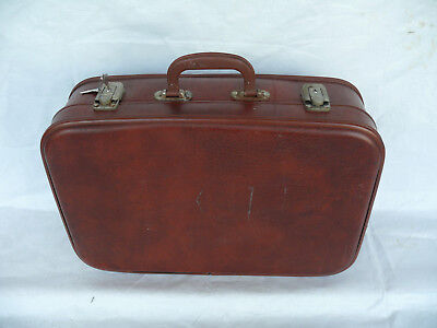 Vintage Soviet USSR Travel Briefcase With Key from 70's  #1570