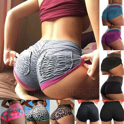 Women Booty Shorts Compression Yoga Pants Sports Gym Fitness Running Butt Lift
