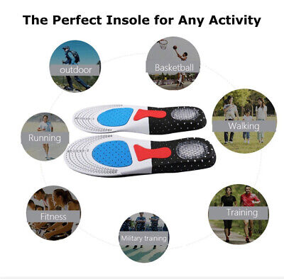 2X Arch Support Shoe Insoles Pain Relief Plantar Fasciitis Orthotic Inserts Pads