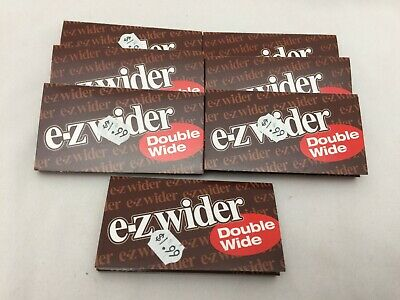 7 Packs Ez-Wider Brand Double Wide Rolling Papers/Cigarette Papers 07446146