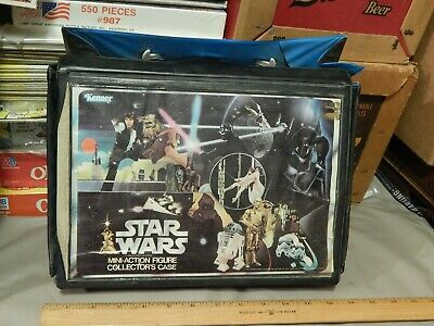 Star Wars (1977) Action Figure Case w/ 12 Characters & Weapons ~ Vtg Lucas Ltd ~