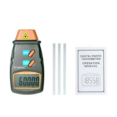 DT2234C+ LCD Digital Laser Photo Tachometer Non Contact RPM Tach Tester Speed