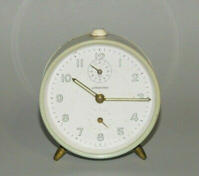 Junghans Clock Made in Germany Wind Up Green Art Deco Style Second Hand