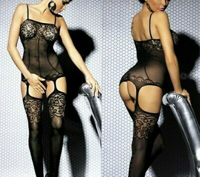 sexy Catsuit Dessous Babydoll Bodystocking erotik Reizwäsche Overall SM bandage