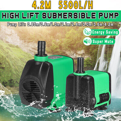 Submersible Water Pump w/ Adjustable Knob Aquarium Fish Tank Pond Fountain Pump