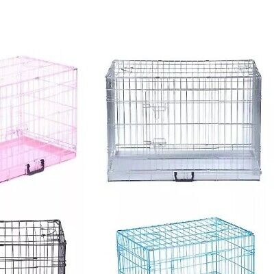 Dog Cage Puppy Crates Large Silver Pet Carrier Training Cages