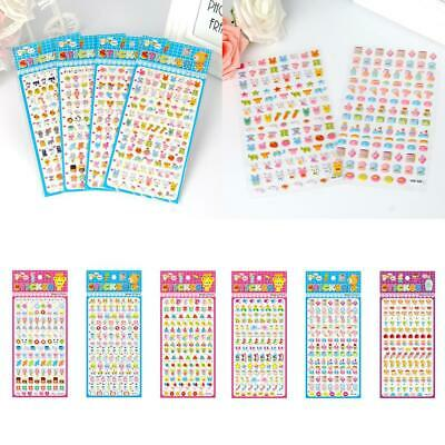 30 Sheets Bubble Stickers Lot Animal Kids Children Scrapbooking Paper Craft Top
