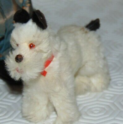 antic  adorable German fur Terrier Dog glass eyes perfect doll companion 31/2 ""