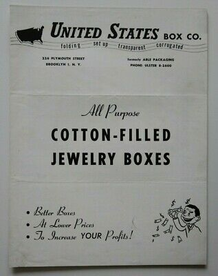 UNITED STATES Box Co Jewelry Boxes 1950s dealer brochure - English - USA 2
