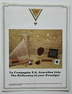 F.G. GRAVELINE Jewel boxes 1970s dealer brochure - French English - Canada