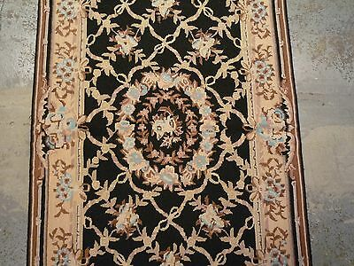 Pretty Chinese needlepoint rug ( 5ft. x 3ft )