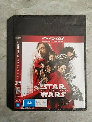 Star Wars The Last Jedi 3D Blu-ray RIDLEY BOYEGA DRIVER FISHER HAMILL - 3D Only