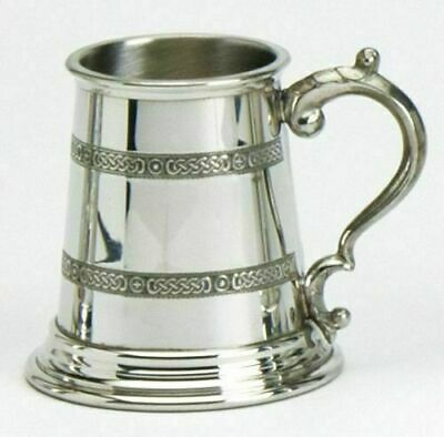 Pewter Childs Celtic Christening Tankard