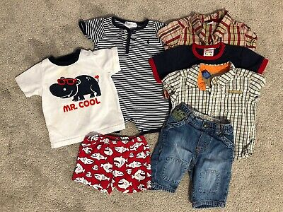 Baby Boy 3 Months Summer Hippo Clothes Lot
