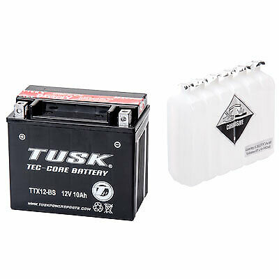 Tusk Tec-Core Battery with Acid TTX12BS Maintenance-Free