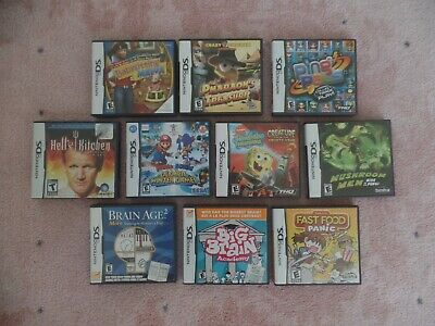 Nintendo DS Game Lot - Ten (10) Games Included
