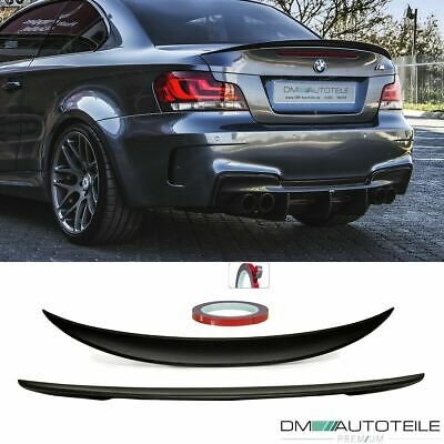 Sport Rear Trunk Spoiler Roof Lip Black Matt fits on BMW 1-Series E82 Coupe +TÜV